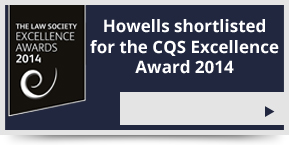 Howells shortlisted for the CQS Excellence Award 2014