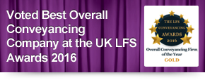Voted Best Overall Conveyancing Company at the UK LFS Awards 2016