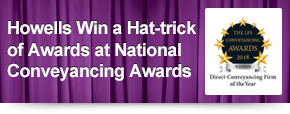 Howells Win a Hat-trick of Awards at National Conveyancing Awards