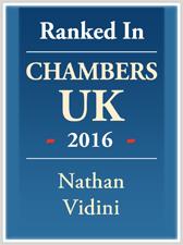 Nathan Vidini Ranked in Chambers UK