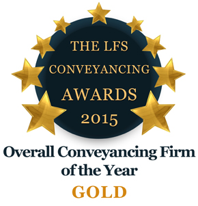 Overall Conveyancing Firm of the Year 2015 - Gold