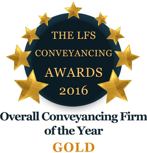 Overall Conveyancing Firm of the Year 2016 - Gold