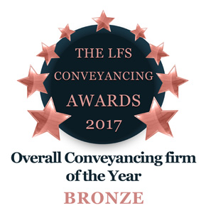 Overall Conveyancing Firm of the Year 2017 - Bronze