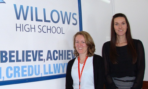 Joanne Brace and Karis Jones at Willows High School